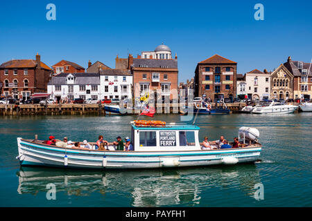 Ferry at Weymouth harbour, Dorset, UK. - Stock Image