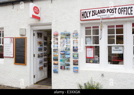 Post Office on Holy Island Lindisfarne - Stock Image