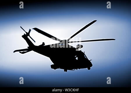 Air,Sea,Rescue,Helicopter,The Solent,Cowes,Isle of Wight,Englanbd,UK, - Stock Image