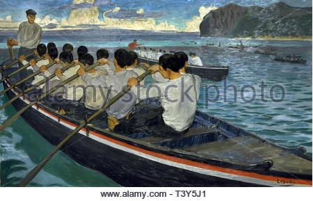 The Rowers by José María Rodríguez de Losada (1826-1896) Spain Spanish - Stock Image