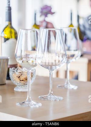 Wine tasting in Setubal wine region, Portugal. - Stock Image