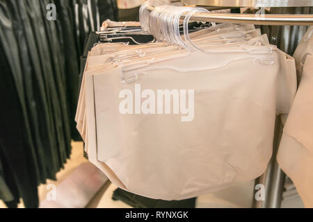 Spanx underpant hang on a store rack. - Stock Image