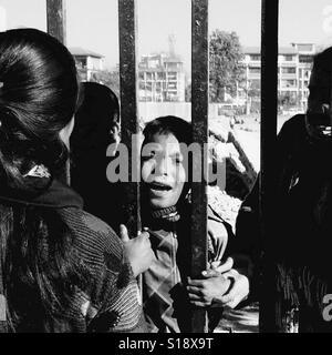 Off to the boy's home, Kathmandu, 2017 - Stock Image