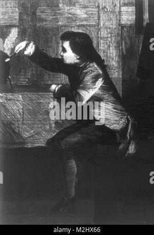 Young James Watt, 1740s - Stock Image