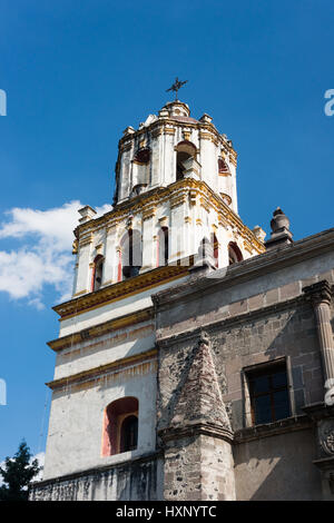outside view of the coyoacan church, Mexico City, December 2016 - Stock Image