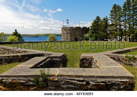 Colonial Pemaquid State Historic Site, Bristol, Maine, USA - Stock Image
