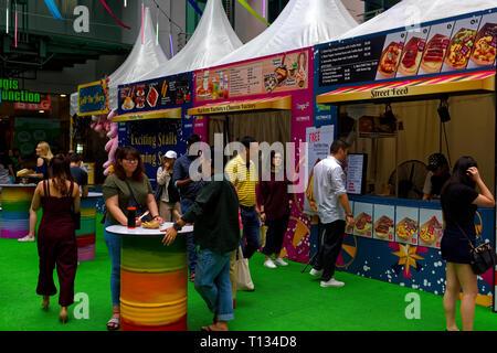 Christmas fair, Bugis Junction, Singapore - Stock Image