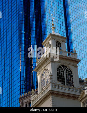 The thirty-eight pound copper grasshopper has seen much of Boston?s history, and ingested some of it, too. Built in 1742 to reference the grasshopper on the Royal Exchange building in London, it began being used as a time capsule in 1761 with a note entitled ?Food for the Grasshopper.? - Stock Image