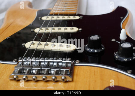 Electric Guitar, Stratocaster Copy - Stock Image