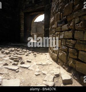 Town gate Huth Yemen - Stock Image