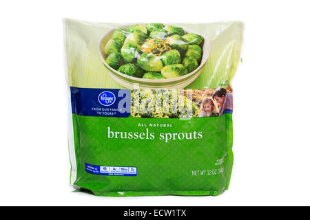 Kroger Brand Frozen Brussels Sprouts - Stock Image