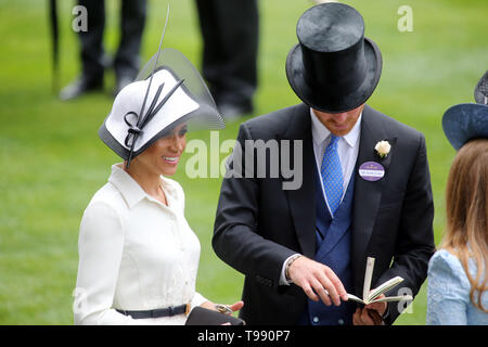 19.06.2018, Ascot, Windsor, UK - Prince Harry, Duke of Sussex and his wife Meghan, Duchess of Sussex. 00S180619D825CAROEX.JPG [MODEL RELEASE: NO, PROP - Stock Image