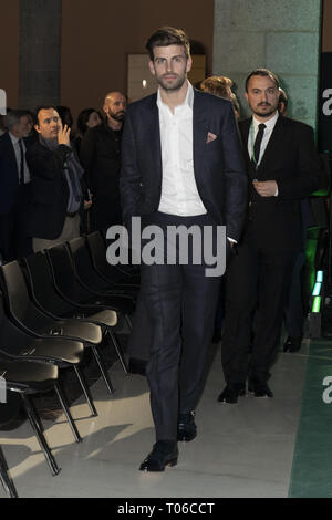Barcelona defender and Kosmos president Gerard Pique attends the draw for the 2019 Davis Cup tennis finals  Featuring: Gerard Pique Where: Madrid, Spain When: 14 Feb 2019 Credit: Oscar Gonzalez/WENN.com - Stock Image