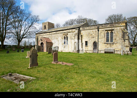 St Margaret's Church, in the village of Millington, East Yorkshire, England UK - Stock Image