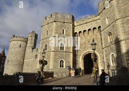 Windsor Castle, home of Queen Elizabeth II in Windsor, Berkshire, England - Stock Image