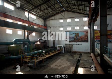 L'usine chimique de Hungnam Fertiliser Complex à Hamhung est le principale site chimique et industrielle de - Stock Image