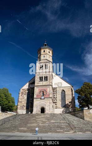Schwäbisch Hall, Altstadt, Evangelische Stadtpfarrkirche St. Michael - Stock Image