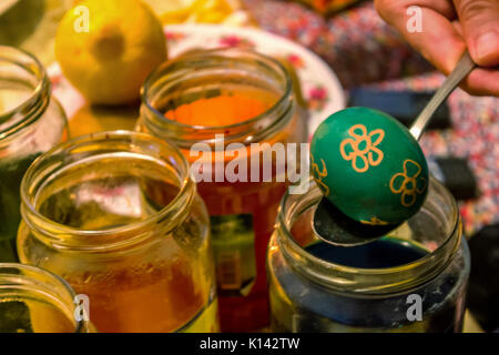 Easter - egg, painting - Stock Image