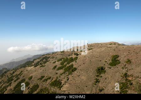 Portugal, Madeira Island, the road between Curral das Freiras Valley and  Pico do Arieiro - Stock Image