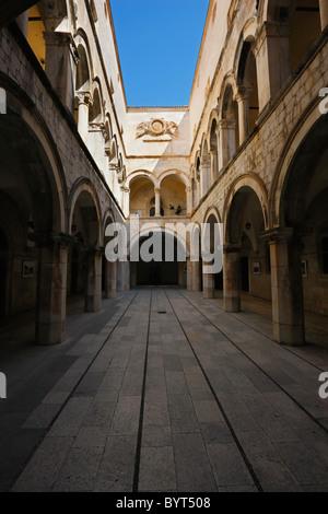 Sponza palace in Dubrovnik,Croatia, UNESCO, heritage - Stock Image