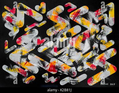 'Night Shift #2' - abstract artwork by Ed Buziak. - Stock Image