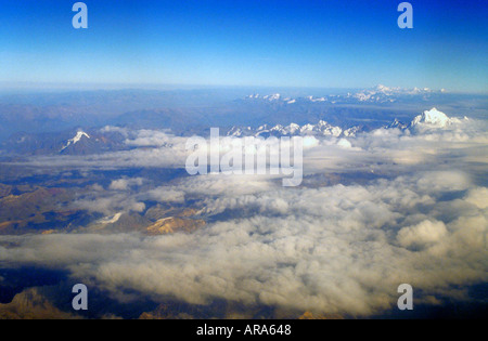 Clouds over the Andes, Peru, South America - Stock Image