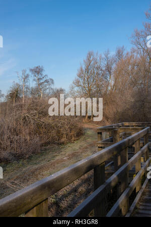 Winter Landscape Frogmore Hertfordshire UK - Stock Image