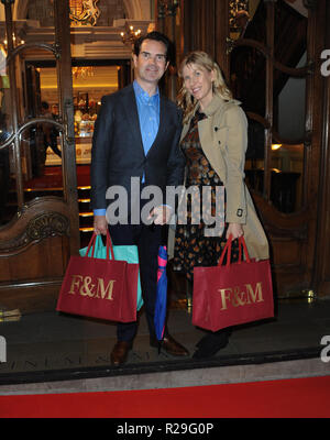 'Fortnum and Mason: Christmas and Other Winter Feasts' book launch in London  Featuring: Jimmy Carr Where: London, United Kingdom When: 17 Oct 2018 Credit: WENN.com - Stock Image