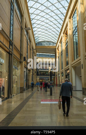 Entrance to Grand Arcade off St Andrews Street Cambridge - Stock Image