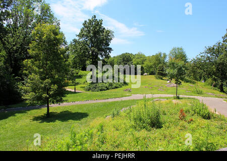 View south from Nutter's Battery in Northern Central Park, Manhattan on JULY 4th, 2017 in New York, USA. (Photo by - Stock Image