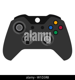 controller joystick game play accessory gamer illustration button entertainment - Stock Image