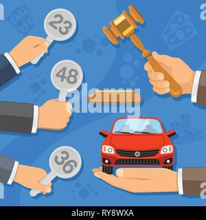 Sale at Auction Car - Stock Image