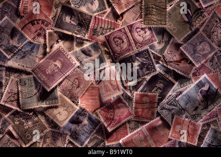 Random world stamps - Stock Image