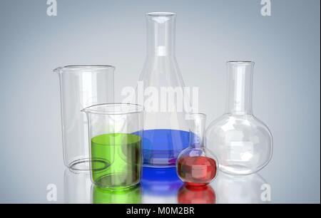 Laboratory glassware - Stock Image