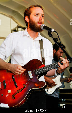 Archie Bronson Outfit live at Field Day festival in Victoria Park London. - Stock Image