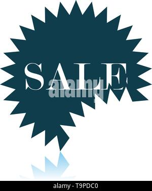 Sale Tag Icon. Shadow Reflection Design. Vector Illustration. - Stock Image