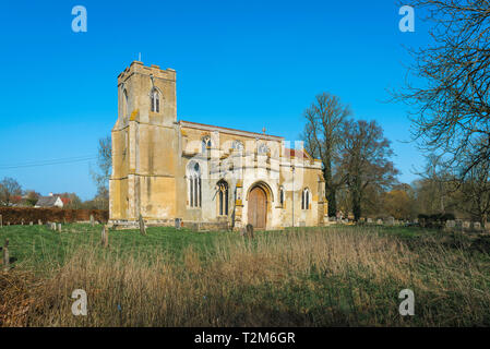 Chelsworth Church, view of the medieval All Saints Church in the village of Chelsworth, Babergh District, Suffolk, England, UK - Stock Image