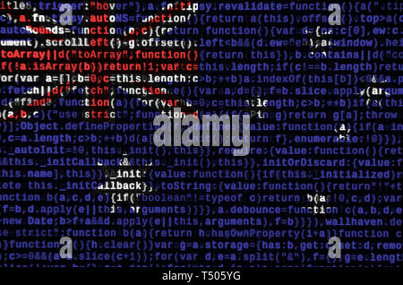 Australia flag  is depicted on the screen with the program code. The concept of modern technology and site development. - Stock Image