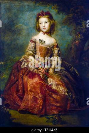 Sir Joshua Reynolds, Lady Elizabeth Hamilton, portrait painting as a young girl, 1758 - Stock Image