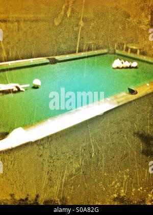 Pool table - Stock Image