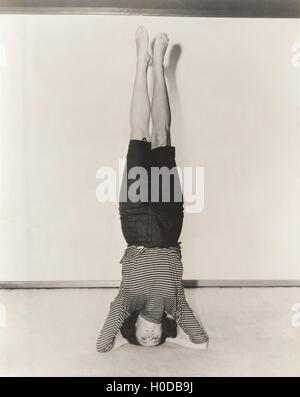 Headstand - Stock Image