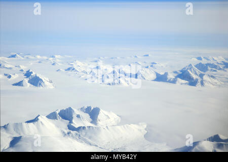 Svalbard Arctic Landscape Aerial View, Norway - Stock Image