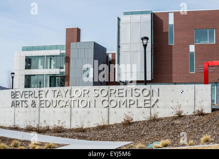 Beverley Taylor Sorenson Arts and Education Complex - University of Utah - Salt Lake City - Stock Image