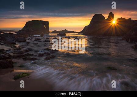 Elephant rock at Antrim coast in Northern Ireland - Stock Image