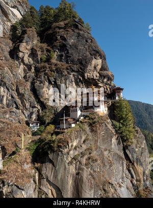 Taktsang (Tiger's Nest) Monastery, Bhutan - Stock Image