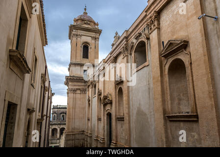 Saint Nicholas of Myra Cathedral in Noto city, Sicily in Italy - Stock Image