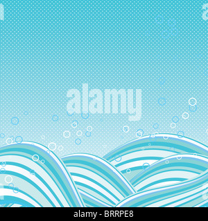 Abstract vector waves background - Stock Image