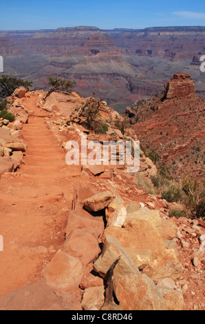 Kaibab Trail and the O'Neill Butte of Grand Canyon National Park. - Stock Image
