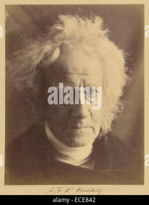 J.F.W. Herschel; Julia Margaret Cameron, British, born India, 1815 - 1879; Hawkhurst, England, Europe; April 1867; - Stock Image