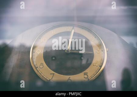 Abstract reflection of city life in hours - Stock Image